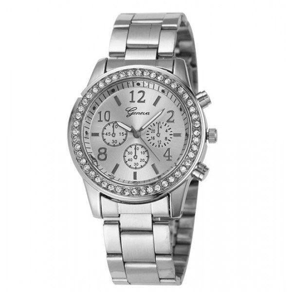 Geneva Köves Chrono Style Ezüst Színű Női óra