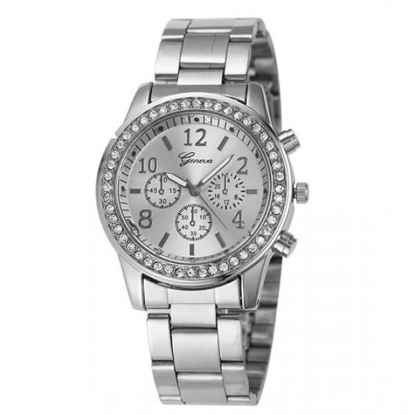 Geneva Köves Chrono Style Ezüst Színű Női óra - óramánia f486384a56