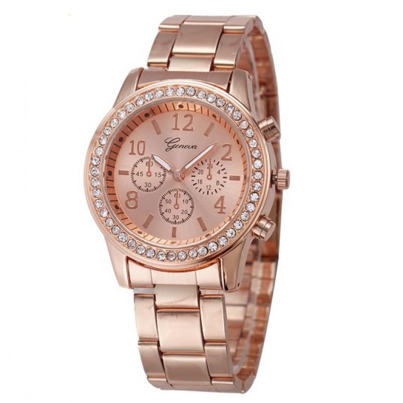 Geneva Köves Chrono Style Rose Gold Színű Női óra - óramánia 4048275737