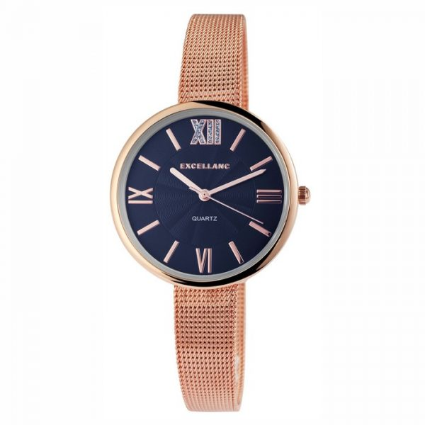 Excellanc Lesia Noi Ora Rose Gold Navy Blue