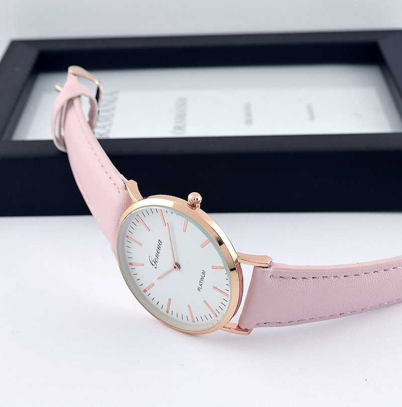 Geneva Classic Thin Női Óra Rose Gold Light Pink - óramánia cb8dab57e7