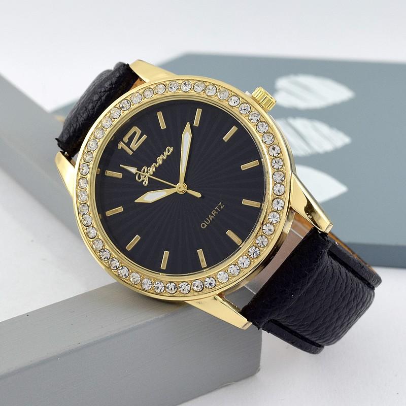 Geneva Kristy Köves arany színű Női Óra Fekete - óramánia 8987ad5177