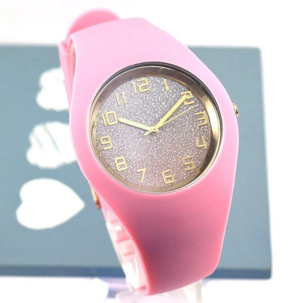 Jelly Shining Női óra Baby Pink arany
